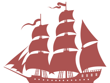Ship Icon for the ship inn porlock red new - Food & Drink